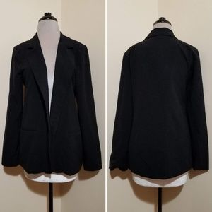 Sequin Hearts Black Hip Length Blazer Jacket